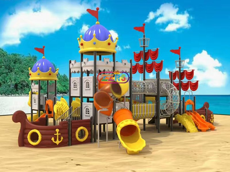 F702 <br> Innovative Design Pirate Ship Big Playground for Kids